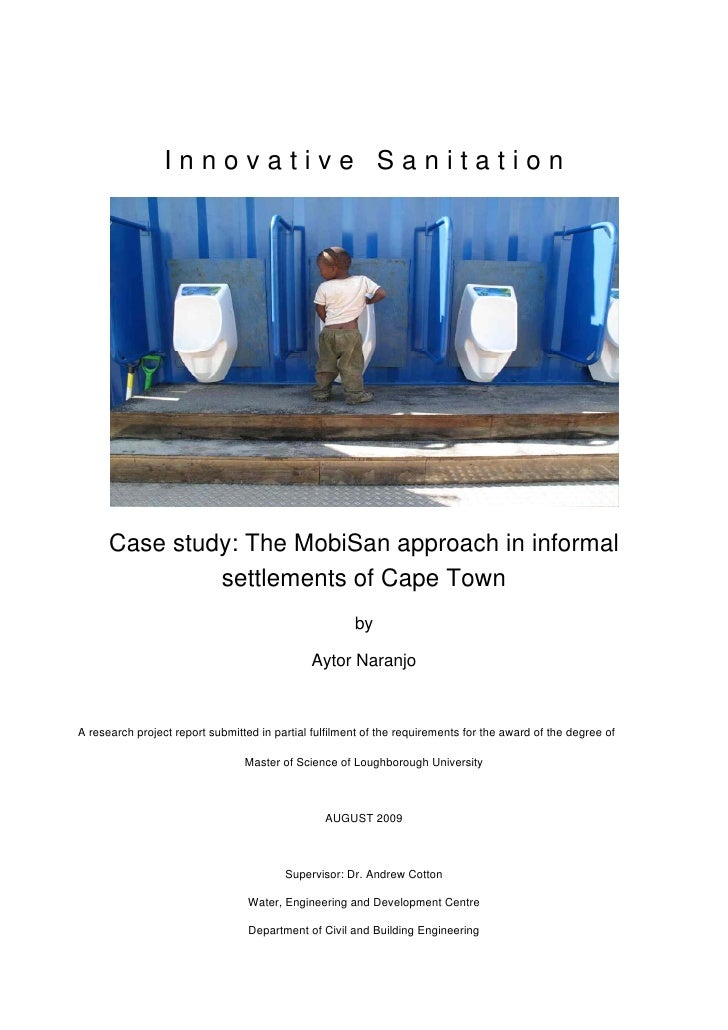 Thesis Aytor Naranjo  Innovative Sanitation The Mobi San Approach In Informal Settlements Of Cape Town
