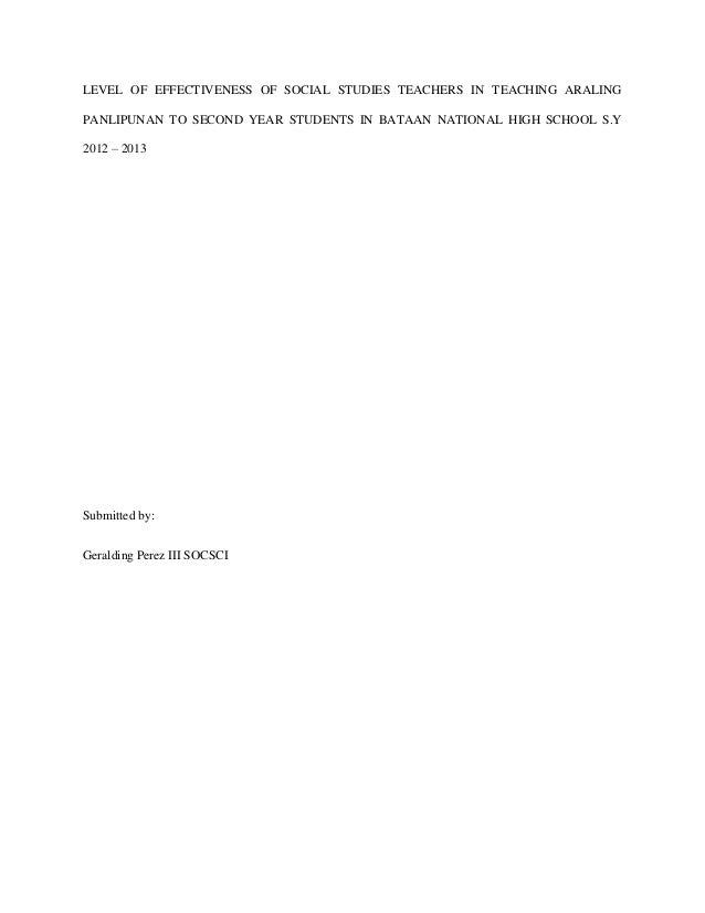 Teaching thesis
