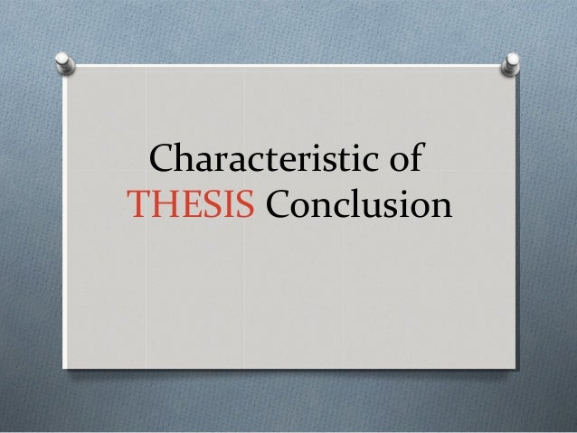 Thesis conclusion