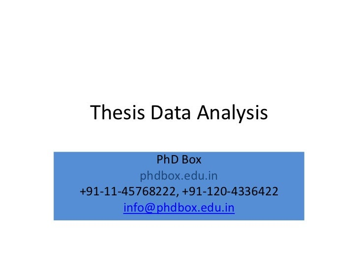 Dissertation data analysis services