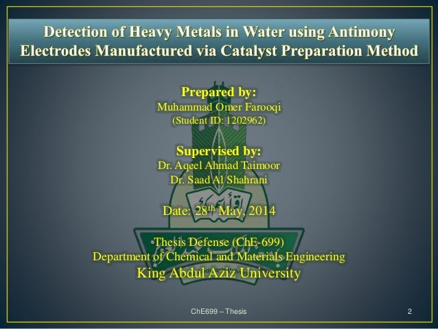 Chemical engineering dissertation proposal