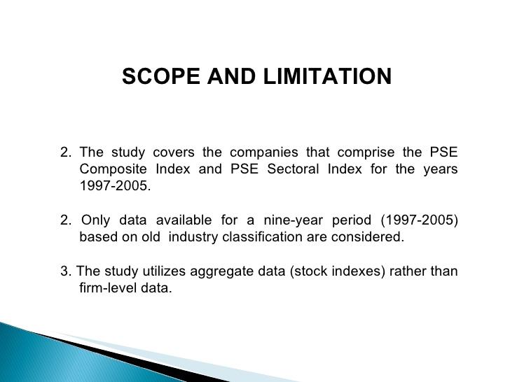 masters dissertation limitations