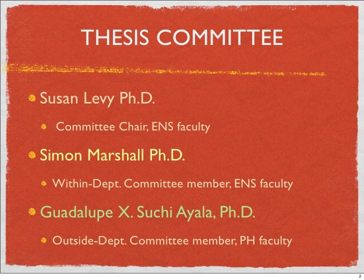 Thesis Committee