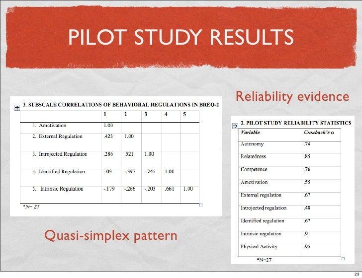 Dissertation and pilot