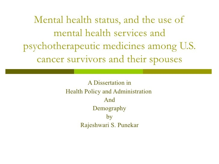 Mental health status, and the use of mental health services and psychotherapeutic medicines among U.S. cancer survivors an...