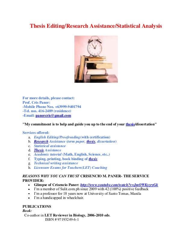 Dissertation statistical assistance divorce effects essay