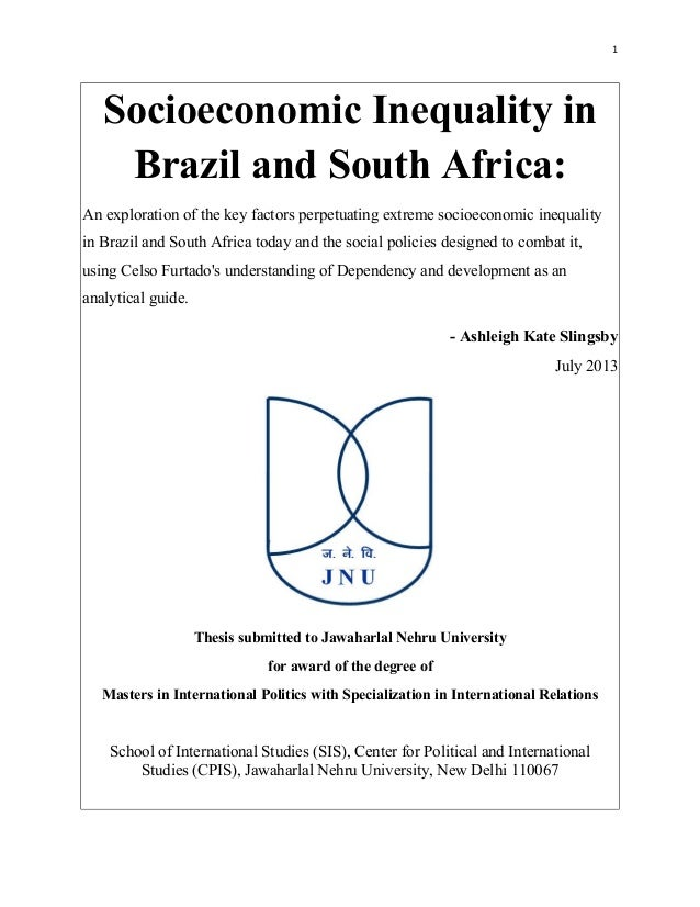 Socioeconomic Inequality in Brazil and South Africa