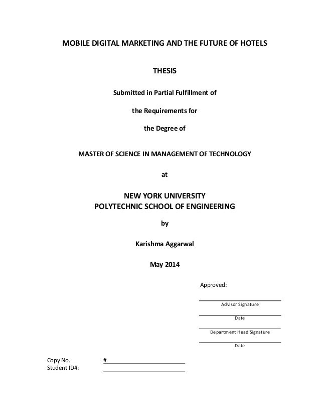 Master thesis in mobile communication