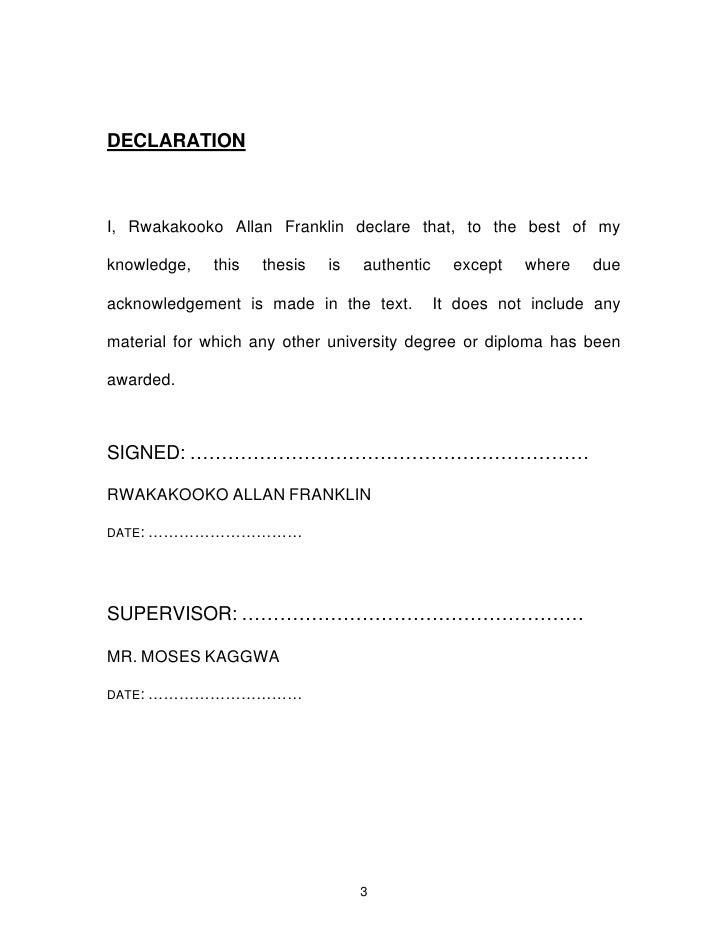 thesis statutory declaration Submission of the examination copies of the mini-dissertation   the 250-word  summary of the dissertation, the declaration of originality  statutory crimes.