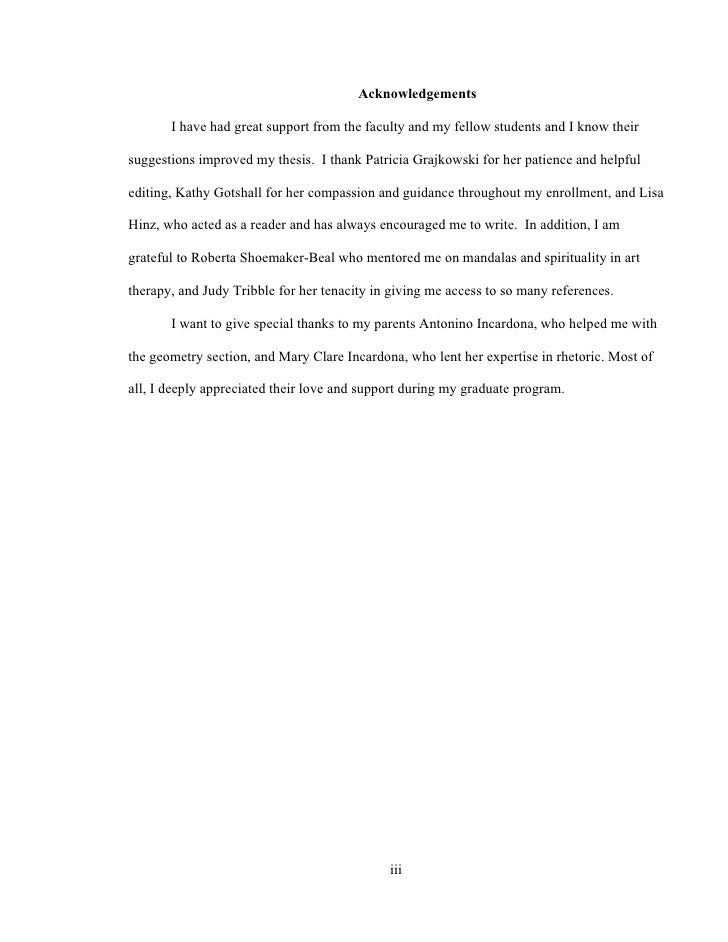 Thesis for art paper