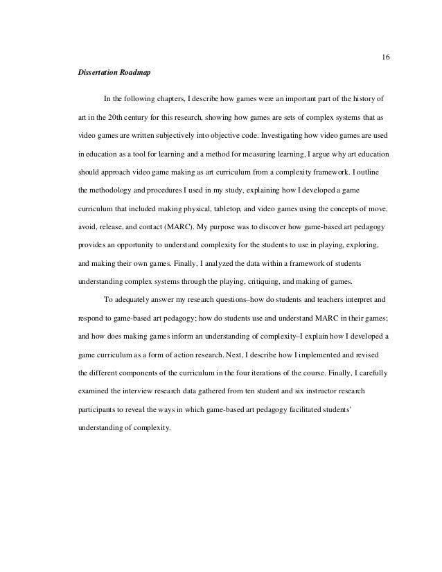 Dissertation learning