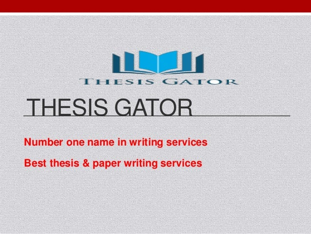 Best thesis writer