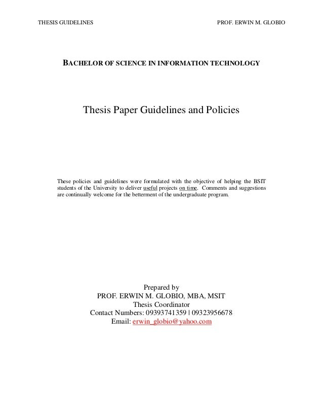 Sample thesis title bscs