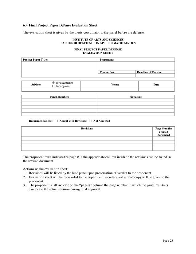 rackham thesis evaluation form