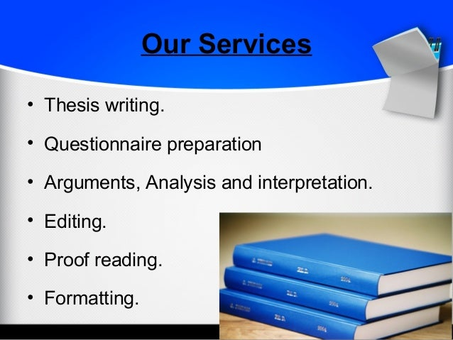 Thesis writing online questionnaire