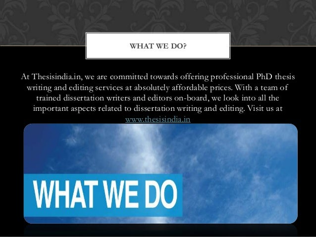 Thesis Writers In India - bestservicetopessayservices