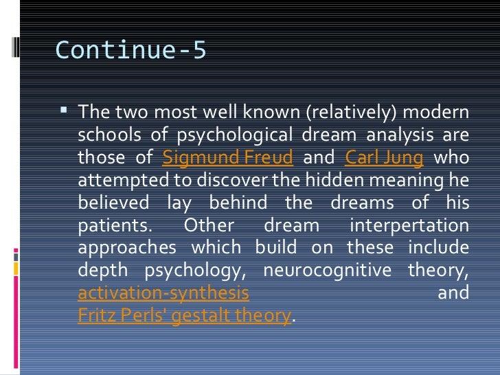 dream interpretation thesis statement