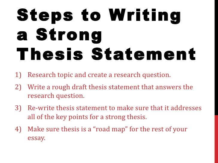 Writer s Web: The Thesis Statement Exercise