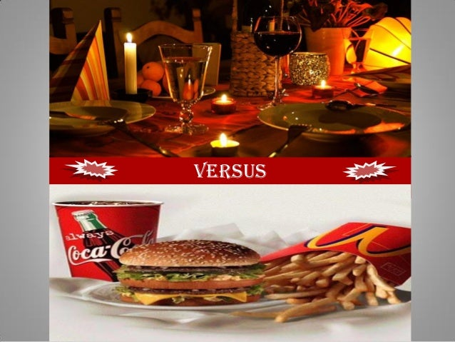 Fast food vs fine dining restaurants for Lean cuisine vs fast food