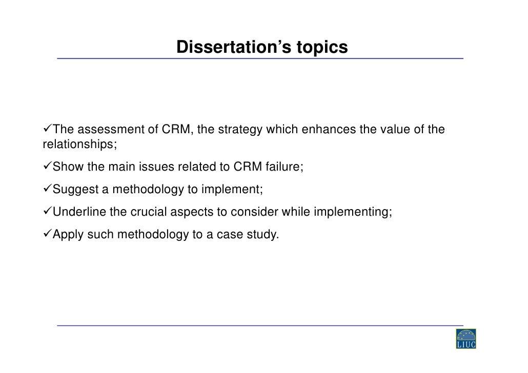 dissertation crm hotel industry