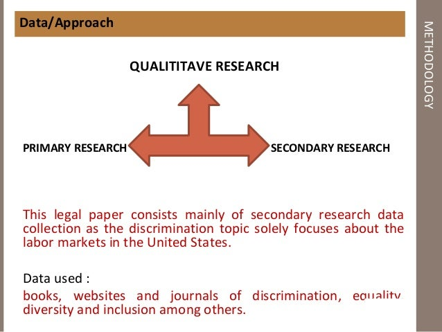 Research paper on gender discrimination