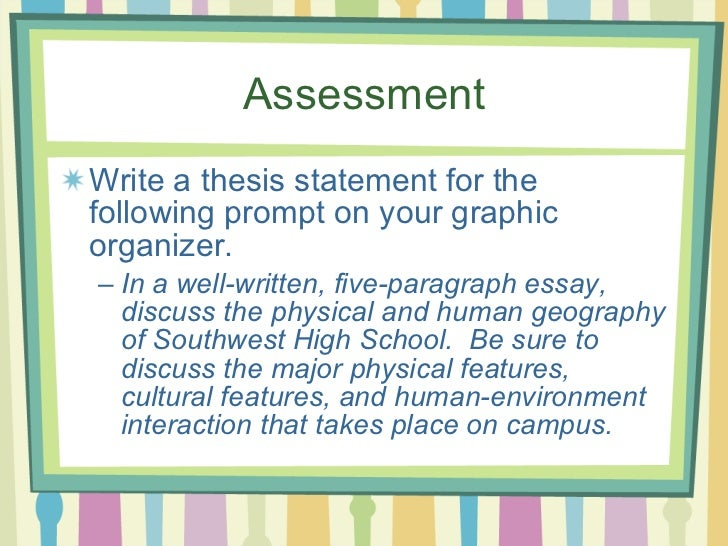 thesis writing activity Lesson skill: creating thesis statements strand writing thesis statement: introduce the color code or markingsystem with the sit and sort activity and continue.