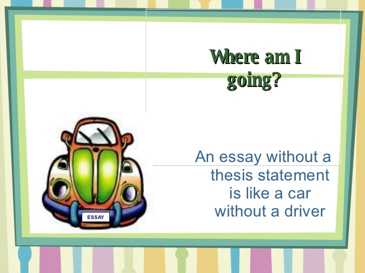 Identifying thesis statement activity
