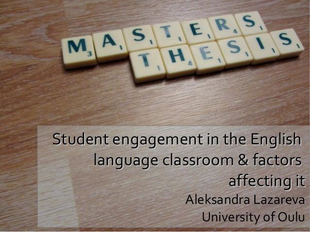 Master's thesis progress (December 2013)