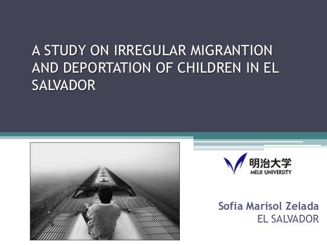 A study on irregular migration and deportation of children in El Salvador
