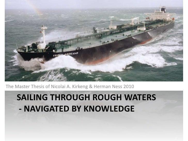 Sailing through rough waters