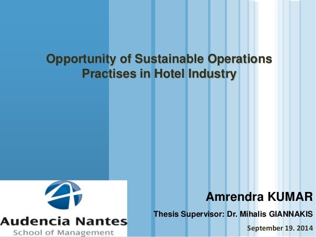 thesis proposal for hospitality industry