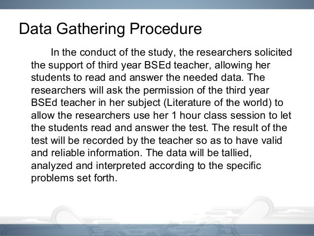 data gathering procedures in thesis