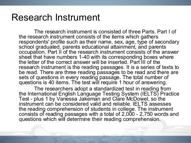 instrument in thesis