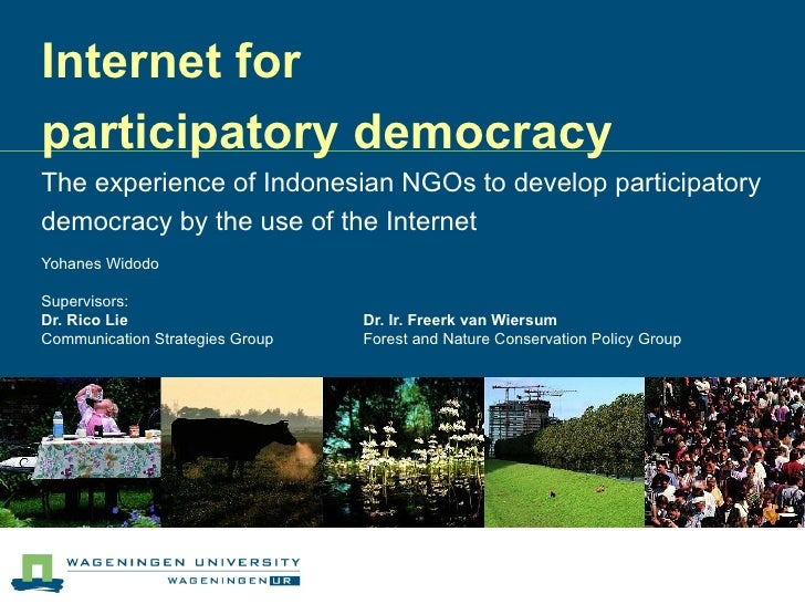 Internet for participatory democracy