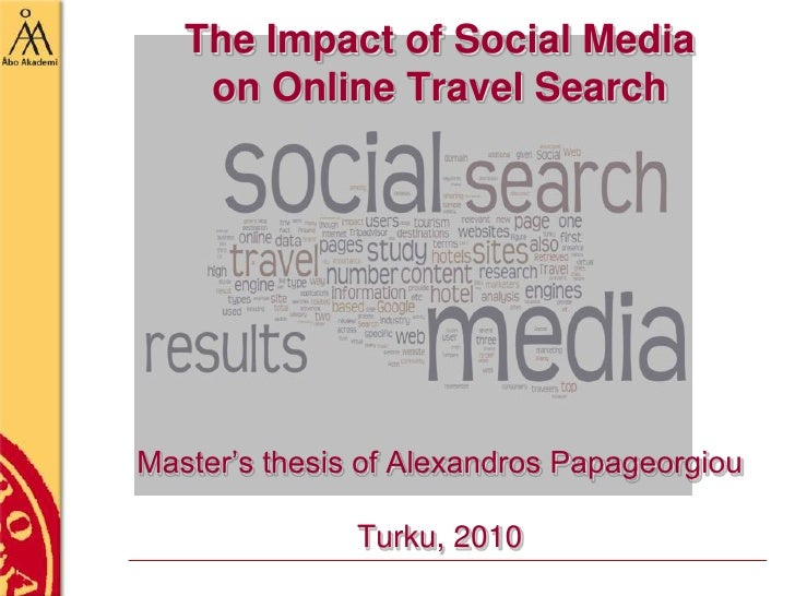 Thesis on Social Media, Travel and Search- MSc thesis of Alexandros Papageorgiou on Travel Social Medial