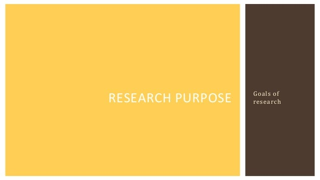 Purpose of masters thesis