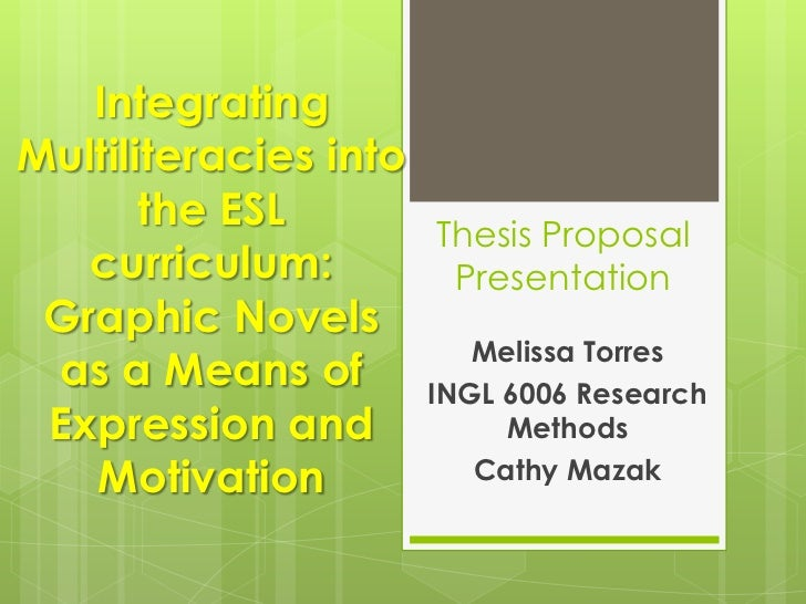 Thesis proposal presentation research methods