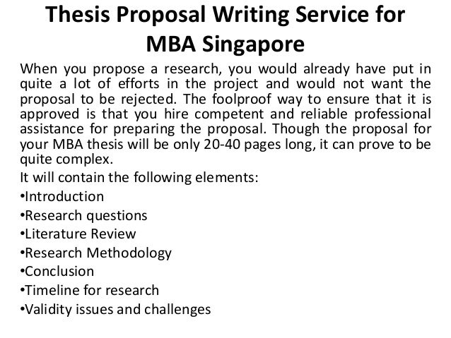 Dissertation mba writing