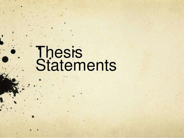 ThesisStatements
