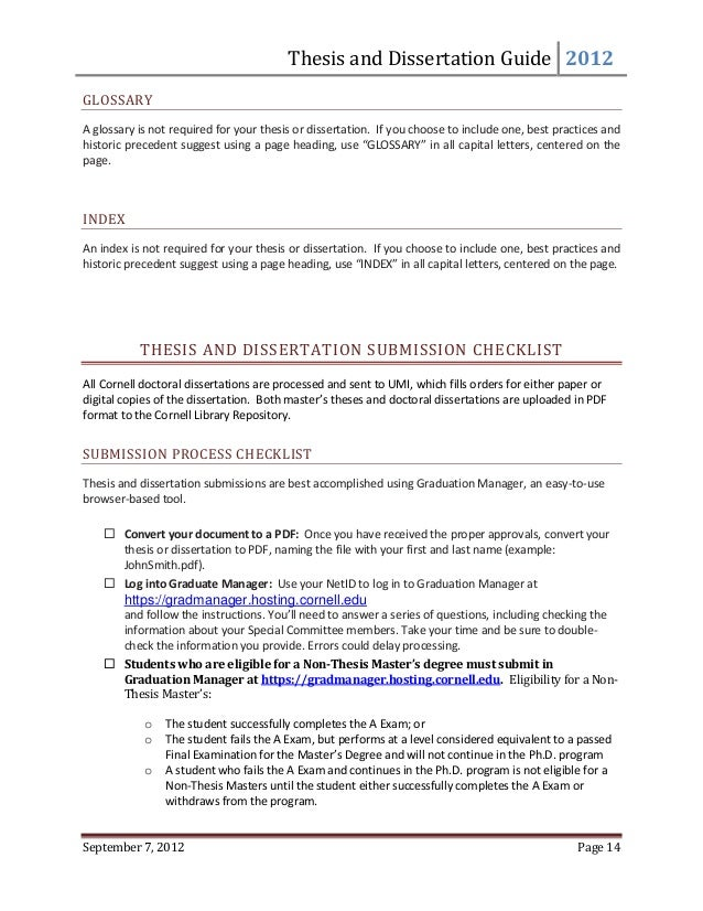 Doctoral Dissertation Agreement Form D