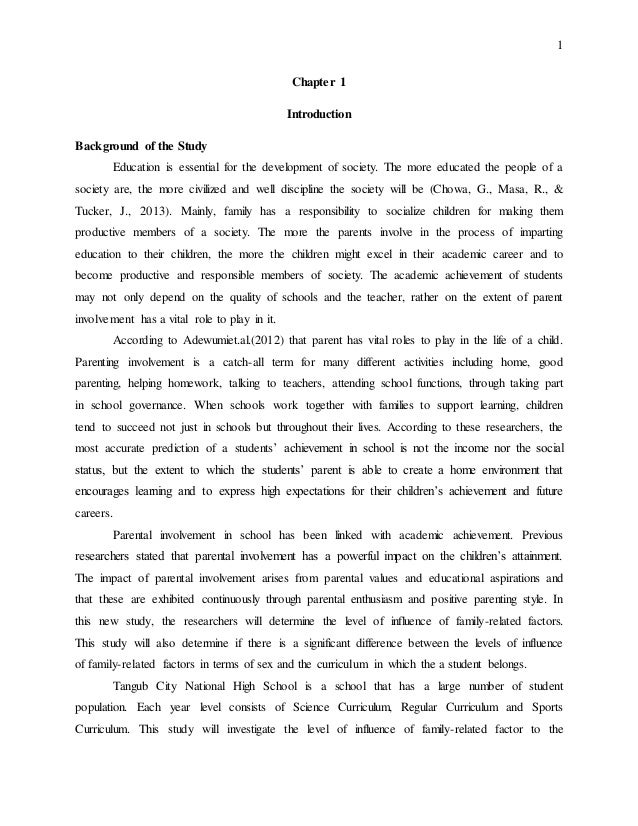 thesis parental involvement education Iii approval page masters of arts thesis parents' involvement in their preschoolers public education: families of children with and without disabilities.