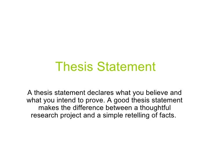 Proper thesis statement paper