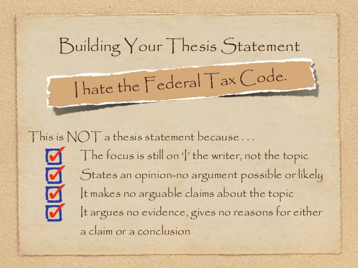 building a good thesis statement
