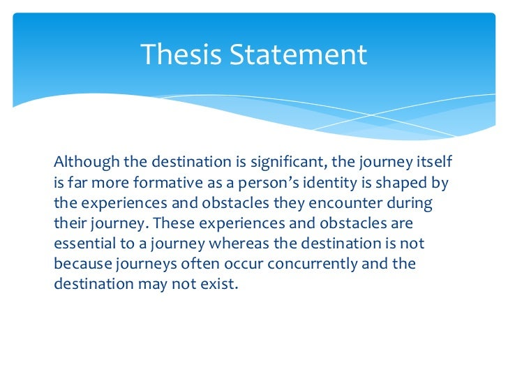essay journey oneself