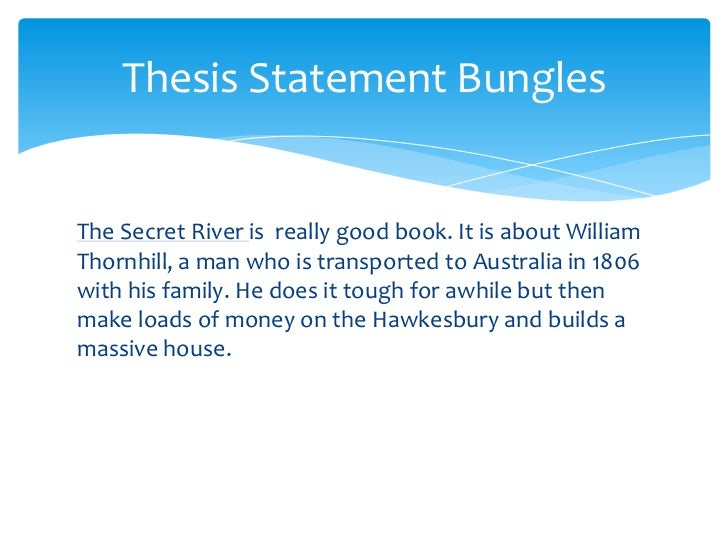 research paper thesis statement powerpoint