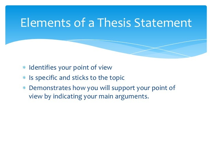 I have three points, and I am having trouble putting a thesis together, can anyone help?