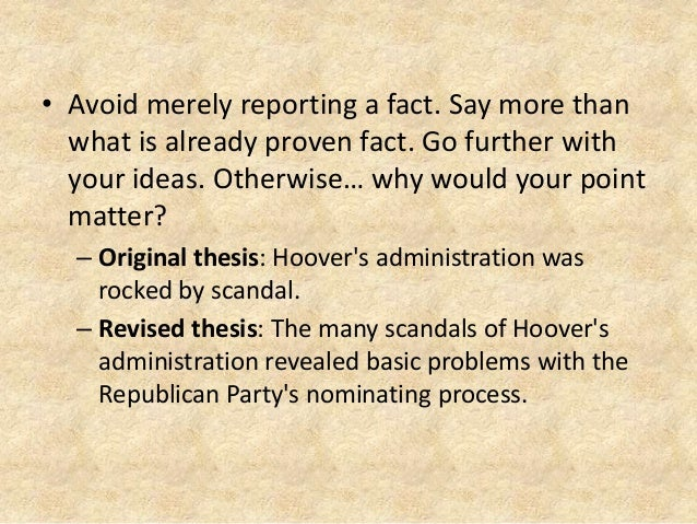 Which thesis statement is best (and why)...?