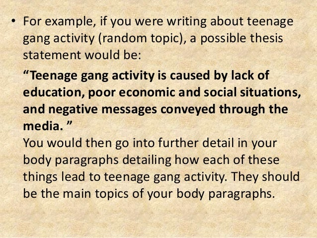thesis on gangs Essays on gangs - allow us to take care of your bachelor or master thesis proofreading and proofediting services from top writers begin working on your assignment right away with professional assistance presented by the service.