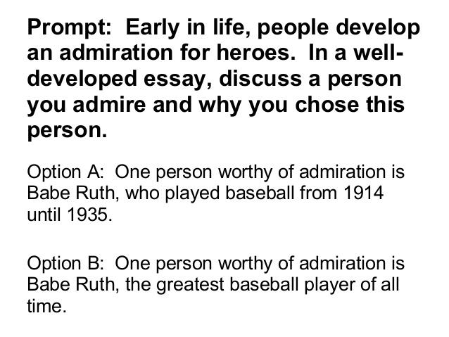 Admire essay someone student who