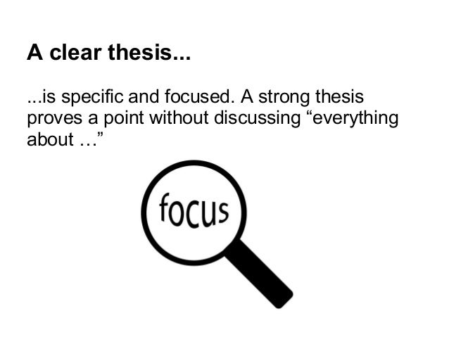 Writing A Clear Thesis Statement